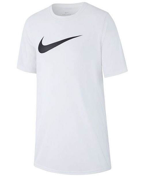 Nike Big Boys Swoosh-Print T-Shirt