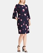 3c5a0001b6045 Ralph Lauren Plus Size Dresses - Lauren Ralph Lauren - Macy s