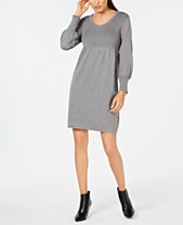 fb26d20d18f1 NY Collection Petite Lantern-Sleeve Sweater Dress