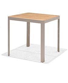 Modern Tropic Teak Outdoor Bar Table, Created For Macy's