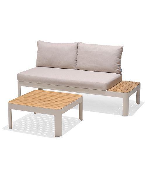 Furniture Modern Tropic Teak Outdoor 2 Pc Seating Set Seat Platform