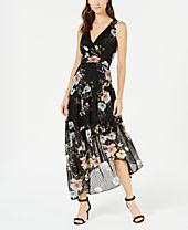 I.N.C. Sleeveless Clip-Dot Maxi Dress, Created for Macy's