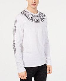 GUESS Men's Neck Piece Graphic Shirt