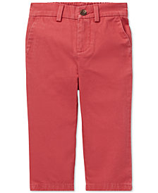 Polo Ralph Lauren Baby Boys Flat-Front Cotton Chino Pants