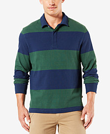 Dockers Men's Striped Rugby Shirt