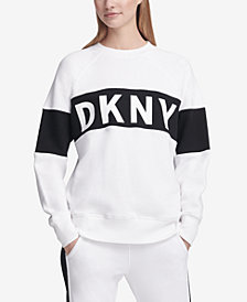 DKNY Sport Colorblocked Fleece Sweatshirt, Created for Macy's