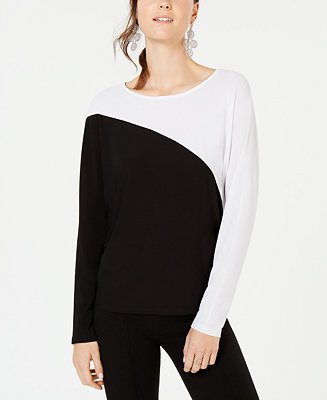 I.N.C. Long Sleeve Colorblocked Dolman Top, Created For Macy's by General