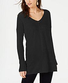 I.N.C. Ribbed Long-Sleeve Tunic Sweater, Created for Macy's