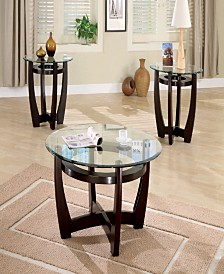 Rachel Contemporary 3 Piece Round Table Set