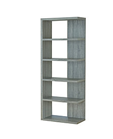 Cecil Contemporary 5 Shelf Bookcase