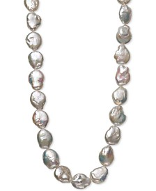 """Cultured Baroque Freshwater Pearl (10 to 13mm) 17"""" Collar Necklace"""