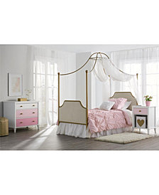 Little Seeds Clementine Canopy Twin Bed