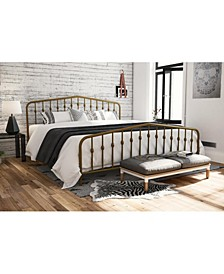 Novogratz Bushwick King Metal Bed