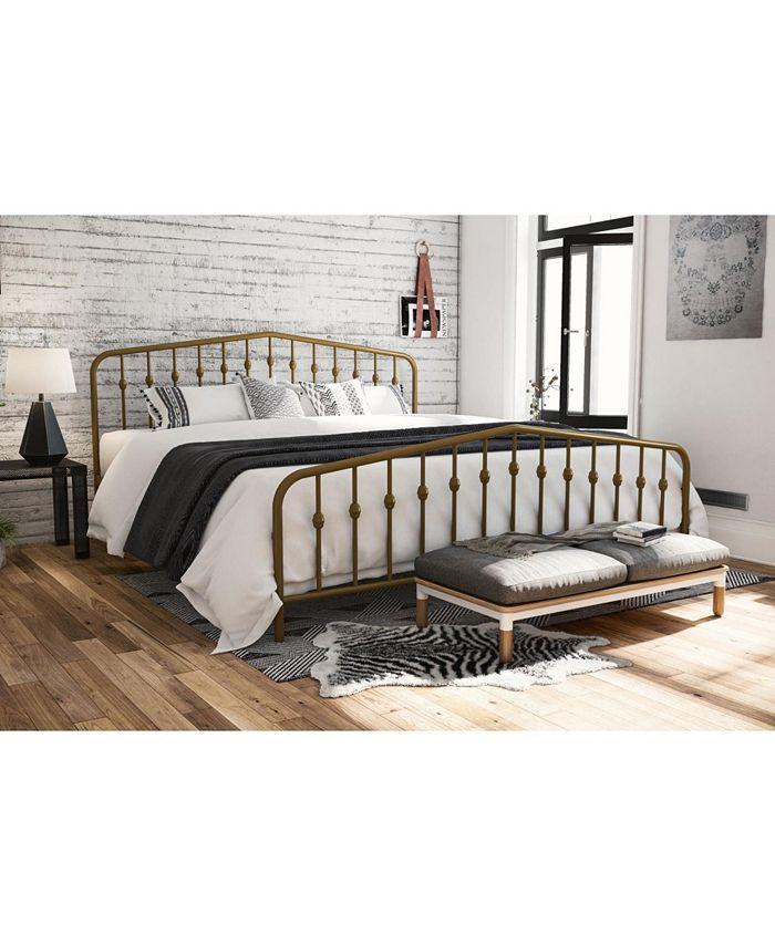 Novogratz Collection - Bushwick Metal Bed in Gold