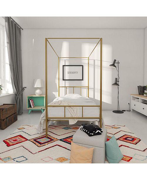 2703f7d6d11b Novogratz Collection Novogratz Marion Canopy Twin Bed & Reviews ...