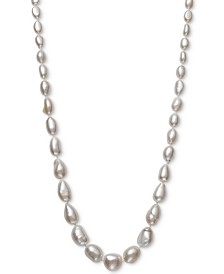 "Cultured Baroque Freshwater Pearl (6 -11mm) Graduated 17-1/2"" Collar Necklace in 14k Gold"