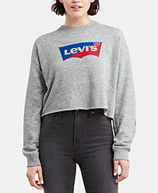 Levi's® Cropped Graphic-Print Sweatshirt