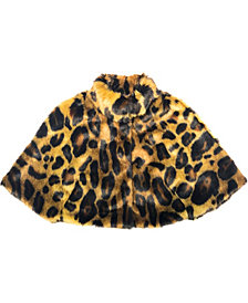 Laundry by Shelli Segal Animal Print Faux Fur Capelet