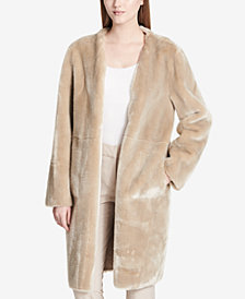 Calvin Klein Long Reversible Faux-Fur Jacket