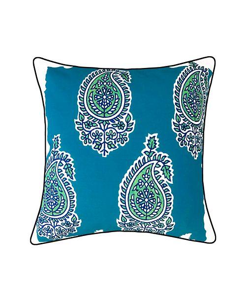 Edie@Home Jaipur Print Outdoor Pillow