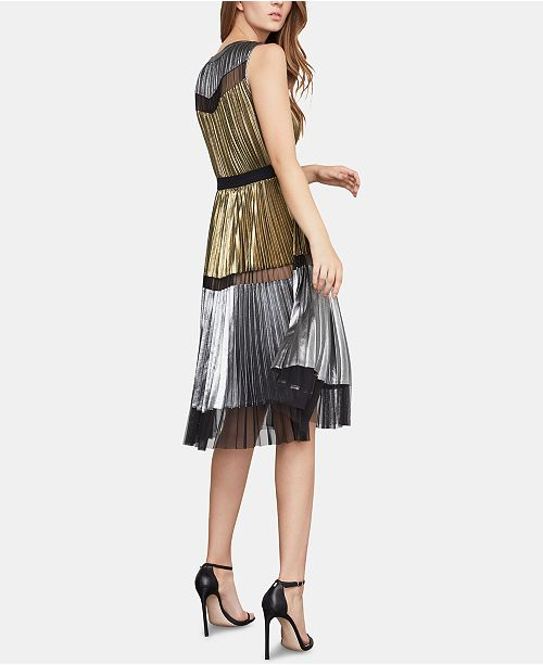 79e021f31ded6 BCBGMAXAZRIA Lucea Colorblocked Pleated Dress   Reviews ...