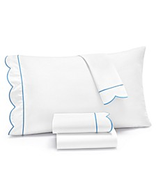 Signature Scallop 4-Pc. Queen Sheet Set, 400 Thread Count 100% Cotton Percale, Created for Macy's