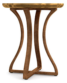Cynthia Rowley Gold Bois Round Accent Table