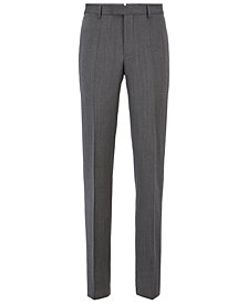 BOSS Men's Slim Fit Tailored Virgin Wool Trousers