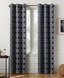 "Barnett 40"" x 95"" Trellis Print Blackout Curtain Panel"