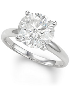 Diamond Solitaire Engagement Ring (4 ct. t.w.) in 14k White Gold