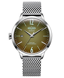 WELDER Women's Stainless Steel Mesh Bracelet Watch 38mm