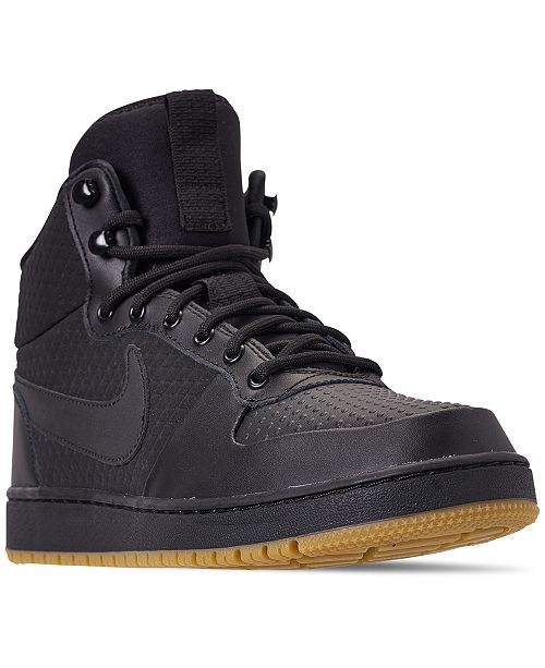 detailed look 8bcbe d79ca Nike Mens Ebernon Mid Winter Casual Sneakers from Finish ...