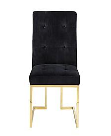 Akiko Black Velvet Chair