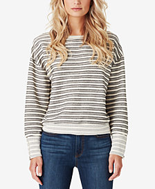 Jessica Simpson Juniors' Geena Striped Bubble-Sleeve Top