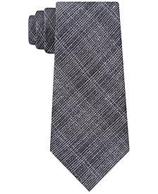 Calvin Klein Men's Reflective Slim Plaid Tie