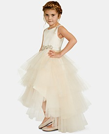 Little Girls Satin Tulle Fairy Dress