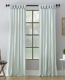 "52"" x 95"" Washed Cotton Twist Tab Curtain"