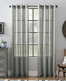 Slub Textured Linen Blend Grommet Top Curtain Collection