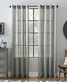 """Archaeo Slub Textured Linen Blend Grommet Top Curtain, 52"""" W x 63"""" L"""
