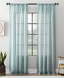 """Archaeo Textured Cotton Blend Sheer Curtain, 54"""" W x 63"""" L"""