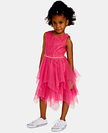 Rare Editions Little Girls Ruffle-Trim Pleated Maxi Dress
