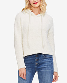 Vince Camuto Plush Teddy Hooded Sweater