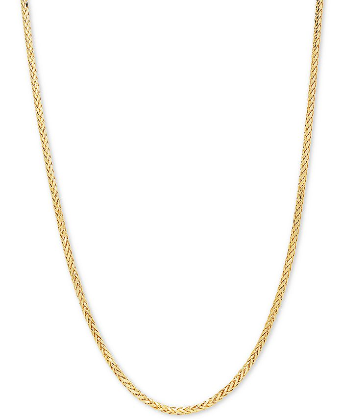"""Italian Gold - Wheat Link 22"""" Chain Necklace in 14k Gold"""