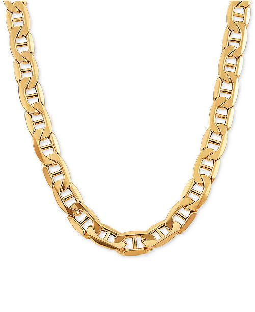 "Italian Gold Mariner Link Chain 24"" Necklace in 10k Gold"