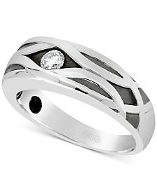 Men's Diamond Ring (1/4 ct. t.w.) in 10k White Gold
