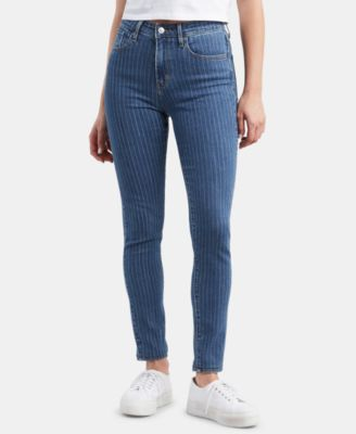 721 High-Rise Pin Stripe Skinny Jeans