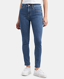 Levi's® 721 High-Rise Pint Stripe Skinny Jeans