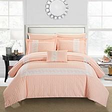 Titian 8 Piece Queen Bed In a Bag Comforter Set