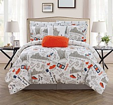Liberty 9 Piece Queen Bed In a Bag Comforter Set