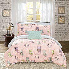 Owl Forest 8 Piece Full Bed In a Bag Comforter Set